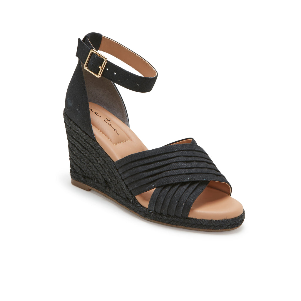 Bellini Black Canvas -  SANDAL - ...me Too