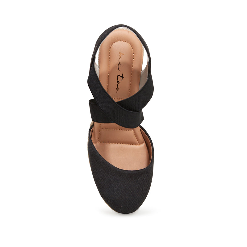 Brinley Black Canvas -  SANDAL - me too