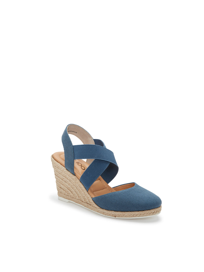 Brinley Blue Washed Canvas -  SANDAL - ...me Too