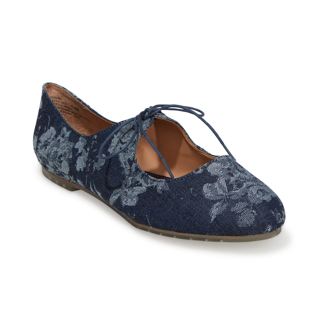 Cacey Navy Floral Denim -  FLAT - ...me Too