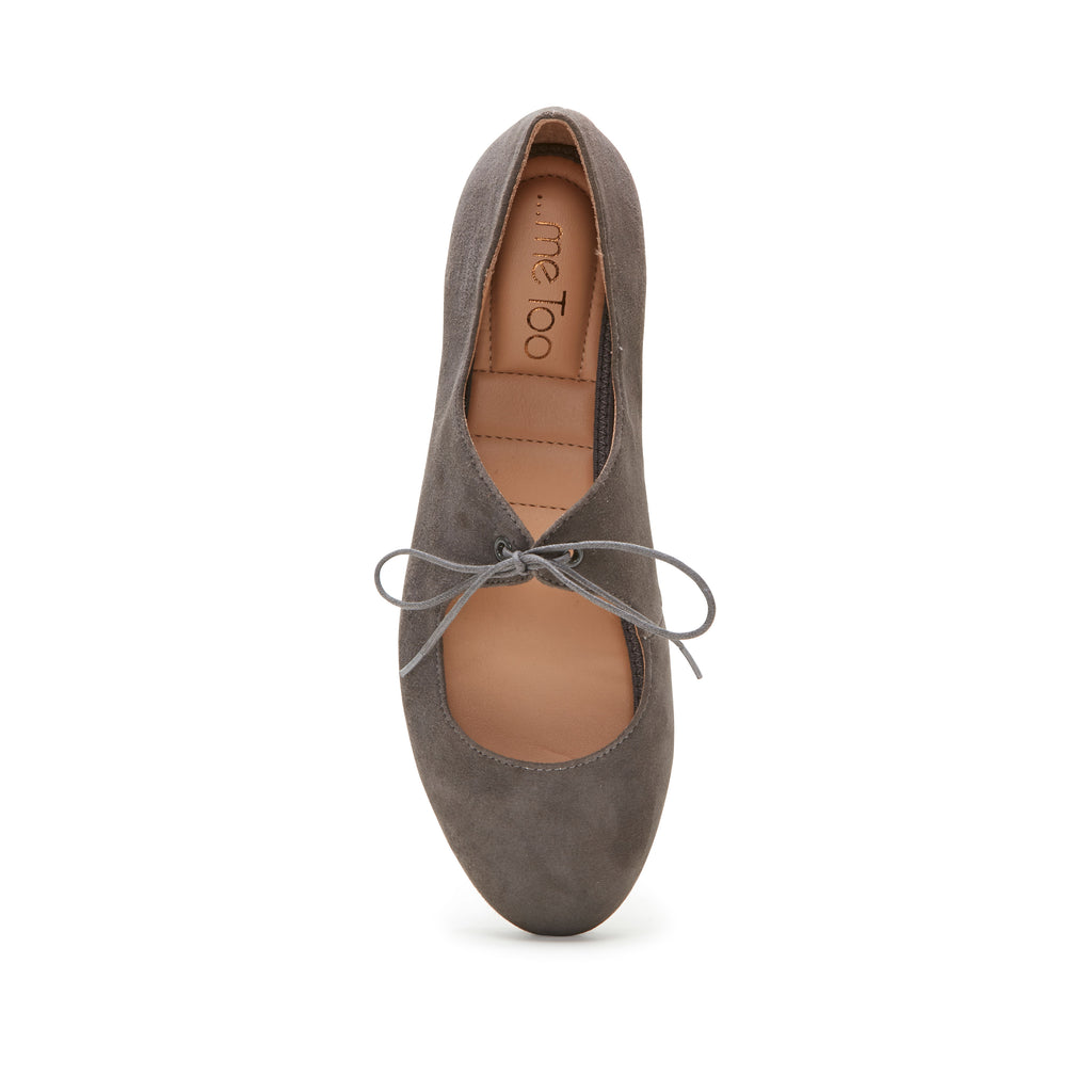 Cacey Charcoal Suede -  FLAT - ...me Too