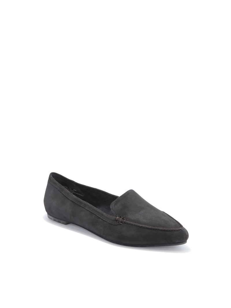 Audra Dark Grey Suede -  loafer - ...me Too