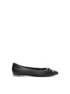 Alisia Black Leather -  FLAT - ...me Too