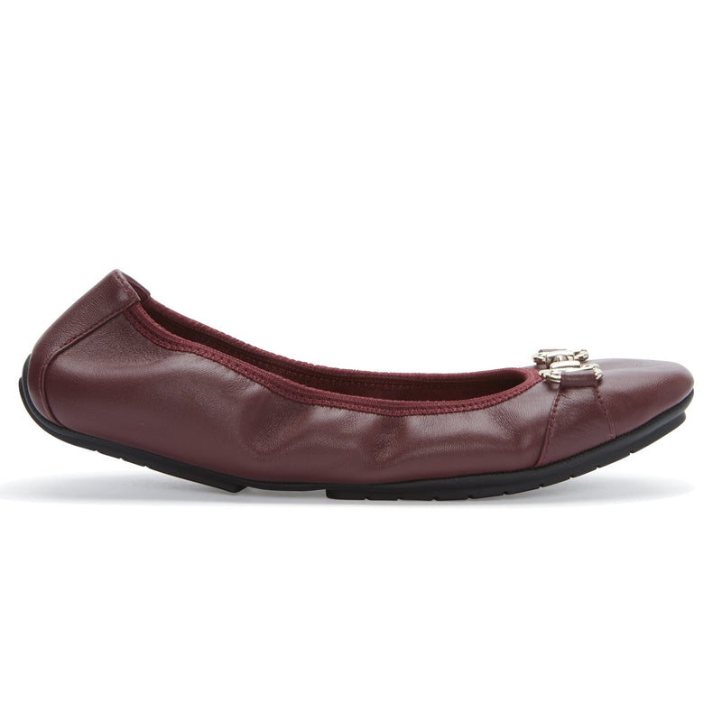 Olympia Deep Wine Leather -  FLAT - ...me Too