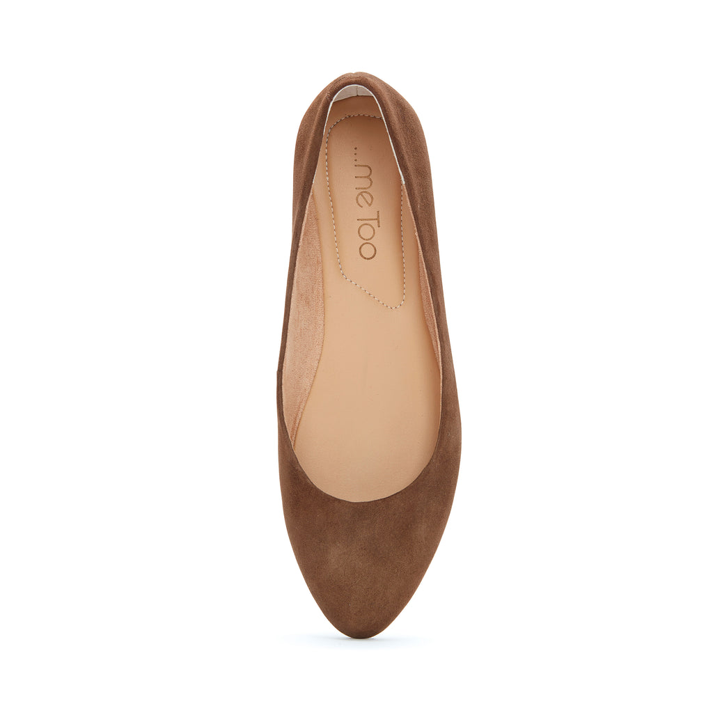 Alina Vintage Brown Suede -  FLAT - ...me Too