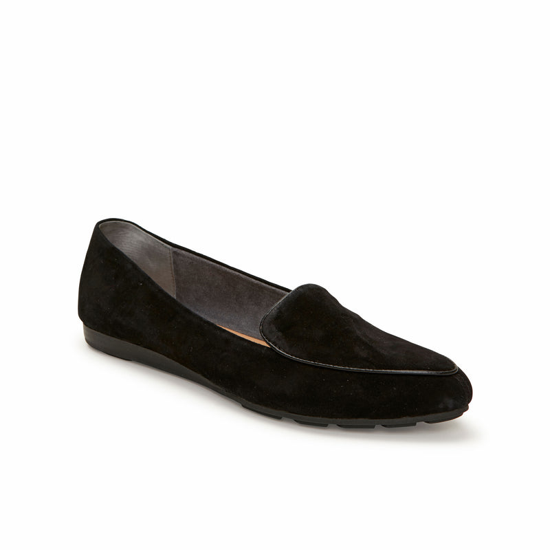 Anissa Black Suede -  Loafer - me too