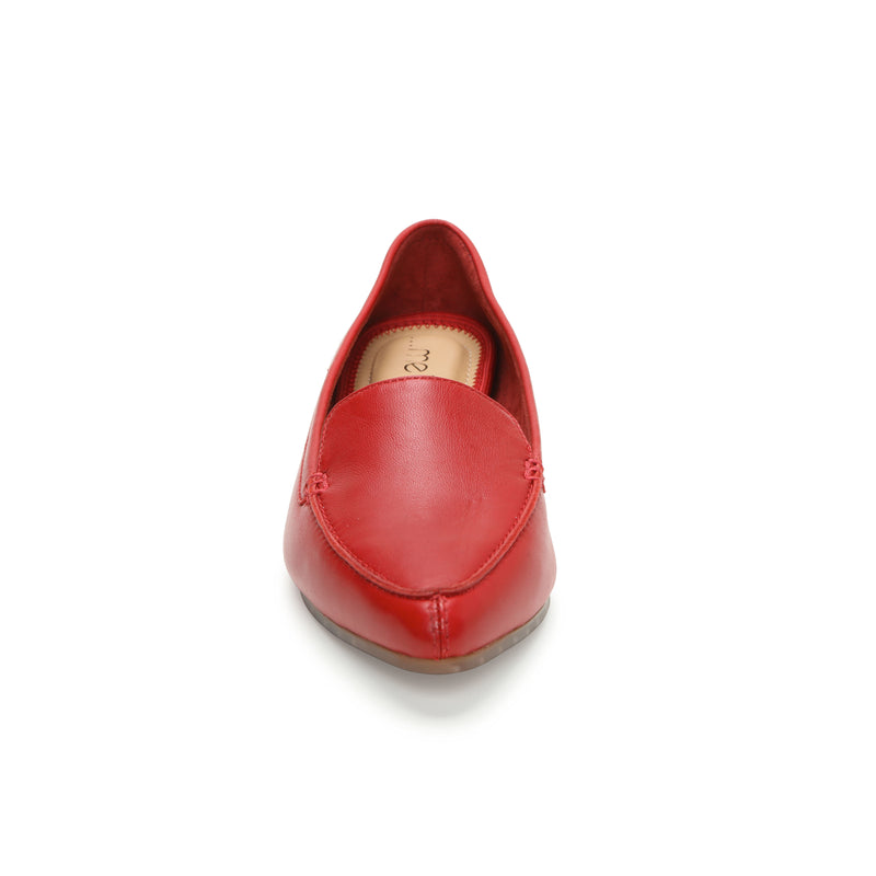 Audra Red Leather -  Loafer - ...me Too