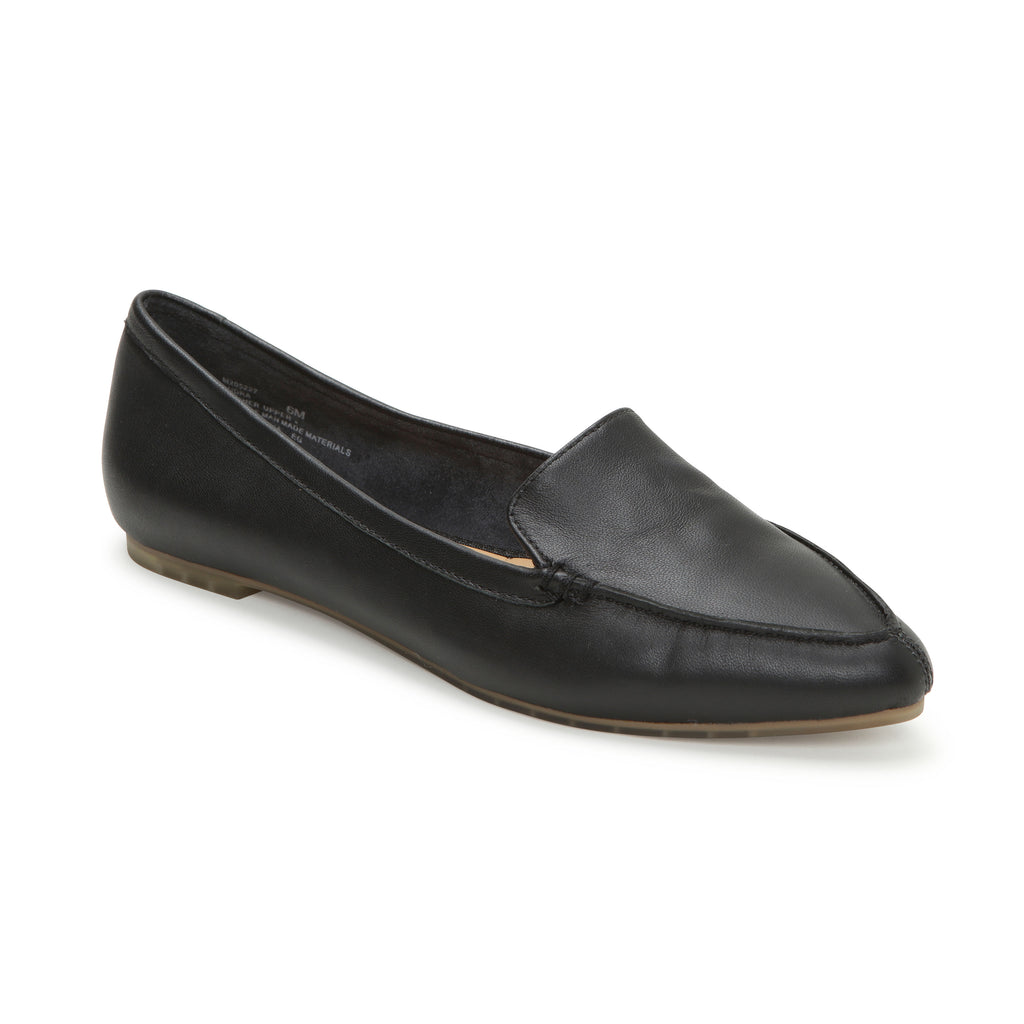 Audra Black Leather -  Loafer - ...me Too