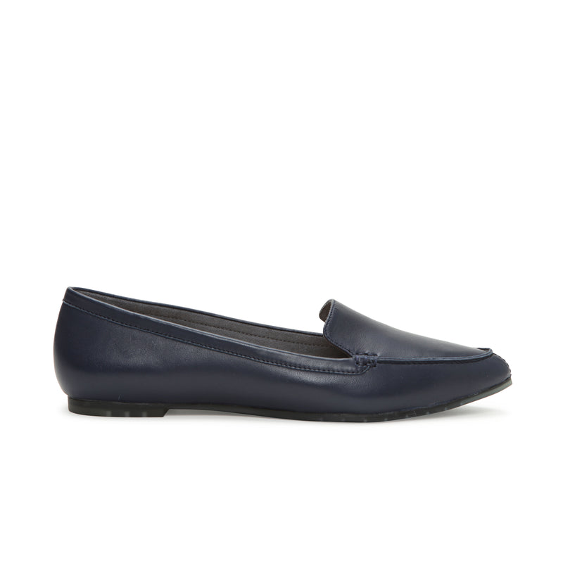 Audra Navy Leather -  Loafer - ...me Too