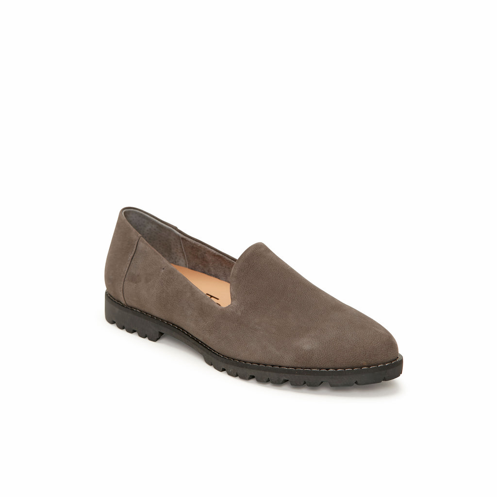 Cambrie Charcoal Leather -  Loafer - me too