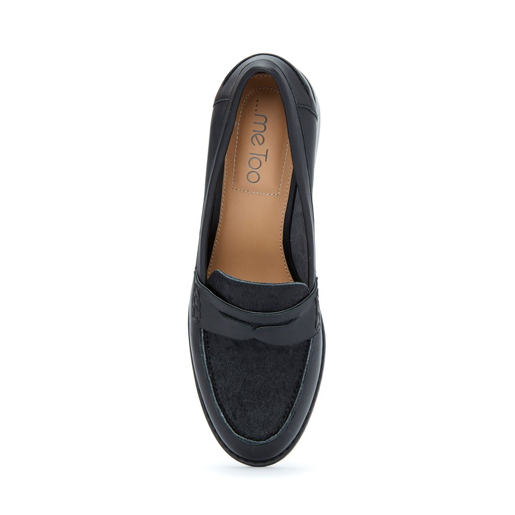 Darra Black Leather with Black Haircalf -  Loafer - ...me Too