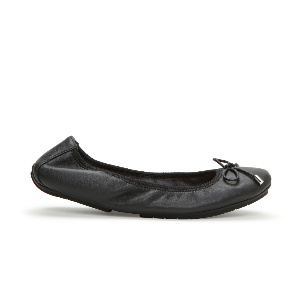 Halle2.0 Black Leather -  Ballet Flats - me too