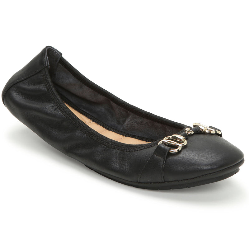 Olympia Black Leather -  FLAT - ...me Too