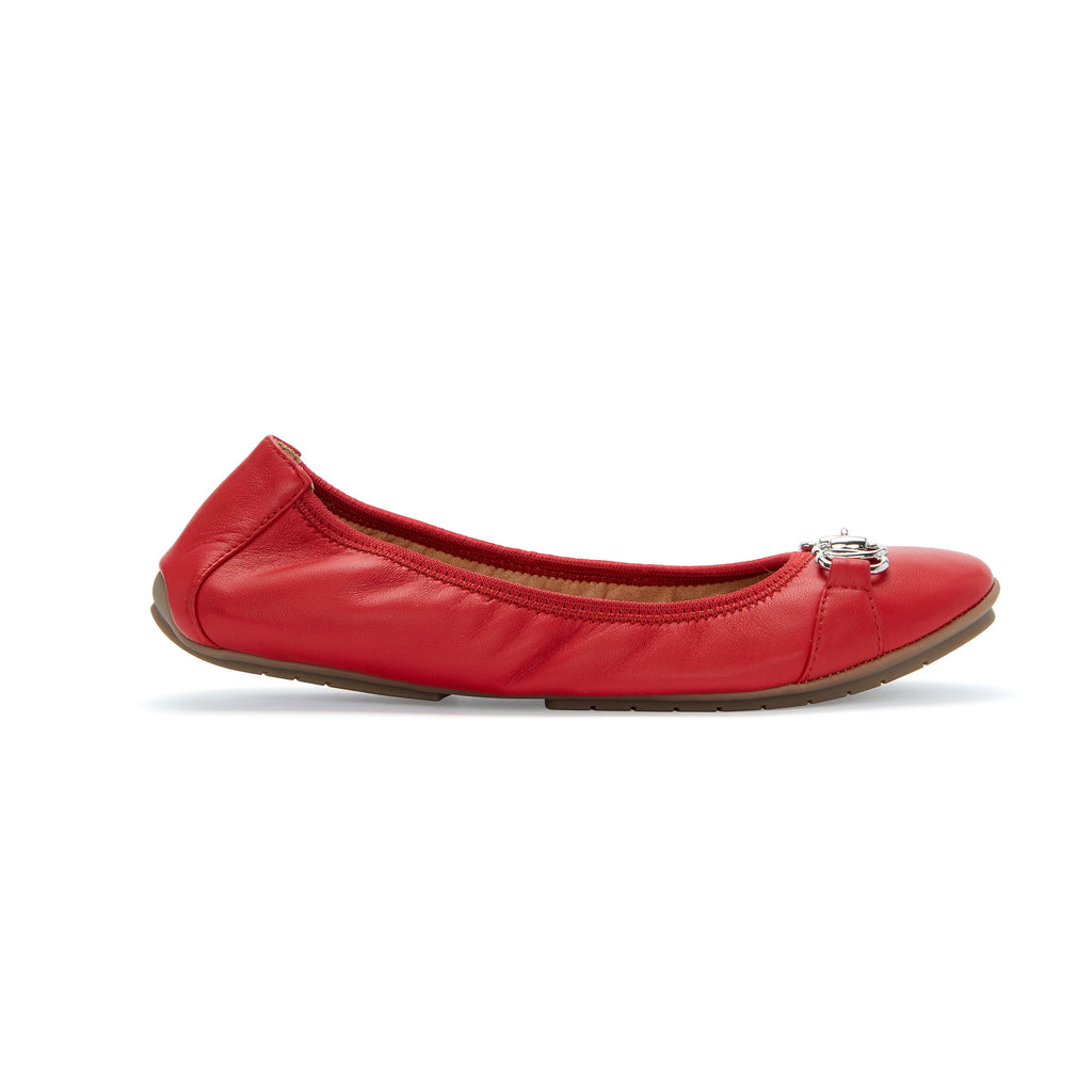 Olympia Ballet Flat w/ Silver Chain