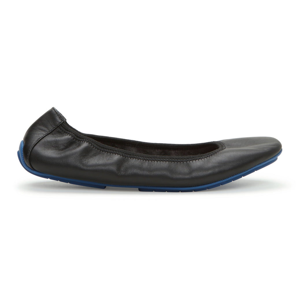 Tru Blu Black Leather -  FLAT - me too
