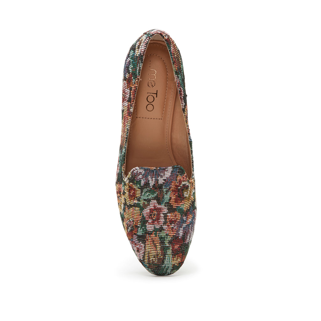 Gwen Wine Floral Fabric -  Loafer - ...me Too