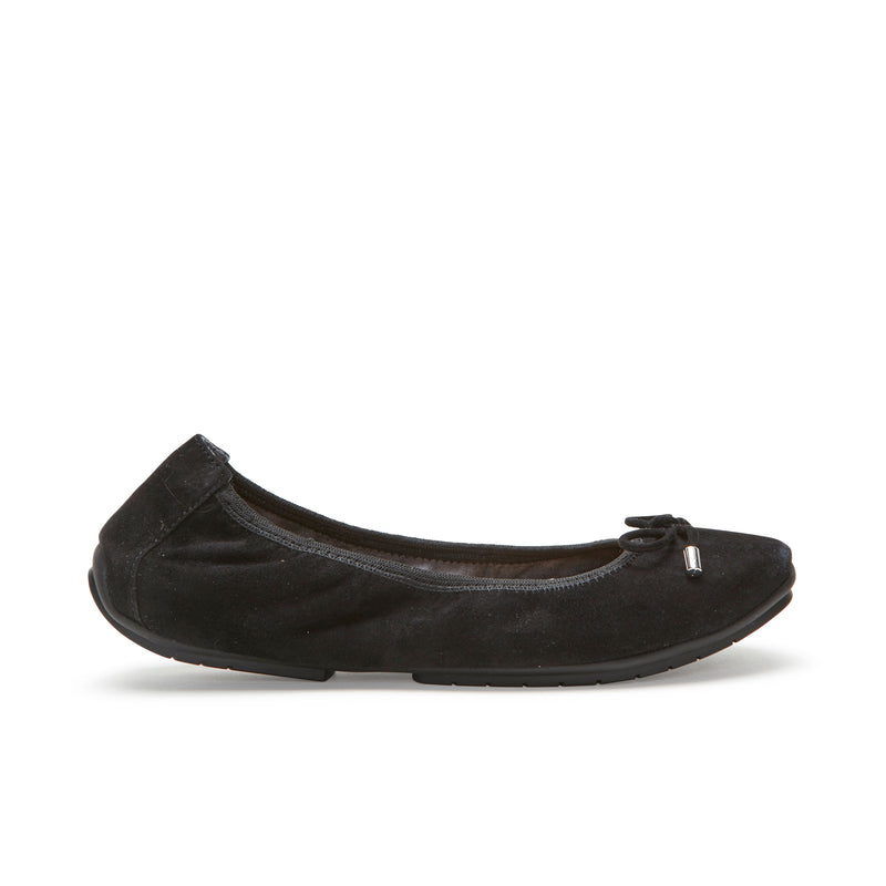 Halle2.0 Black Suede -  FLAT - ...me Too