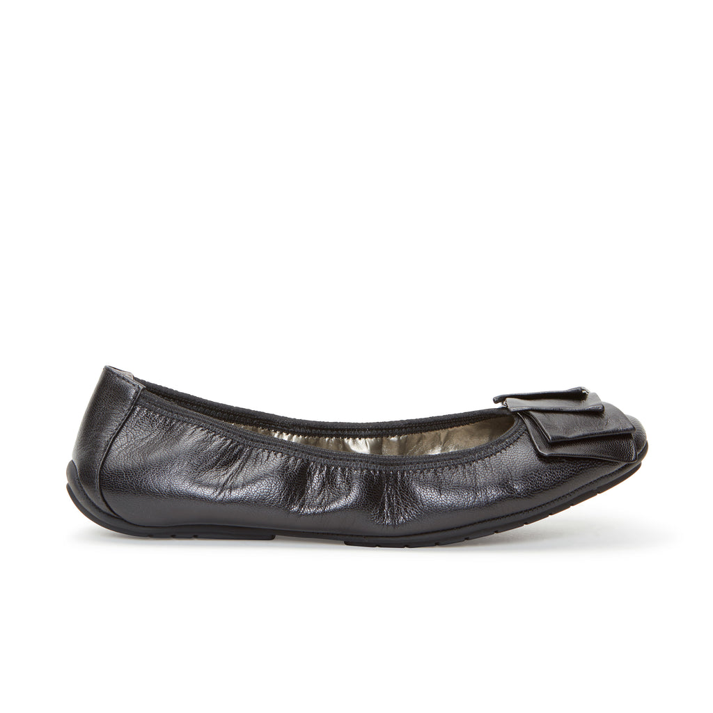 Lilyana2.0 Black Leather -  Ballet Flats - me too
