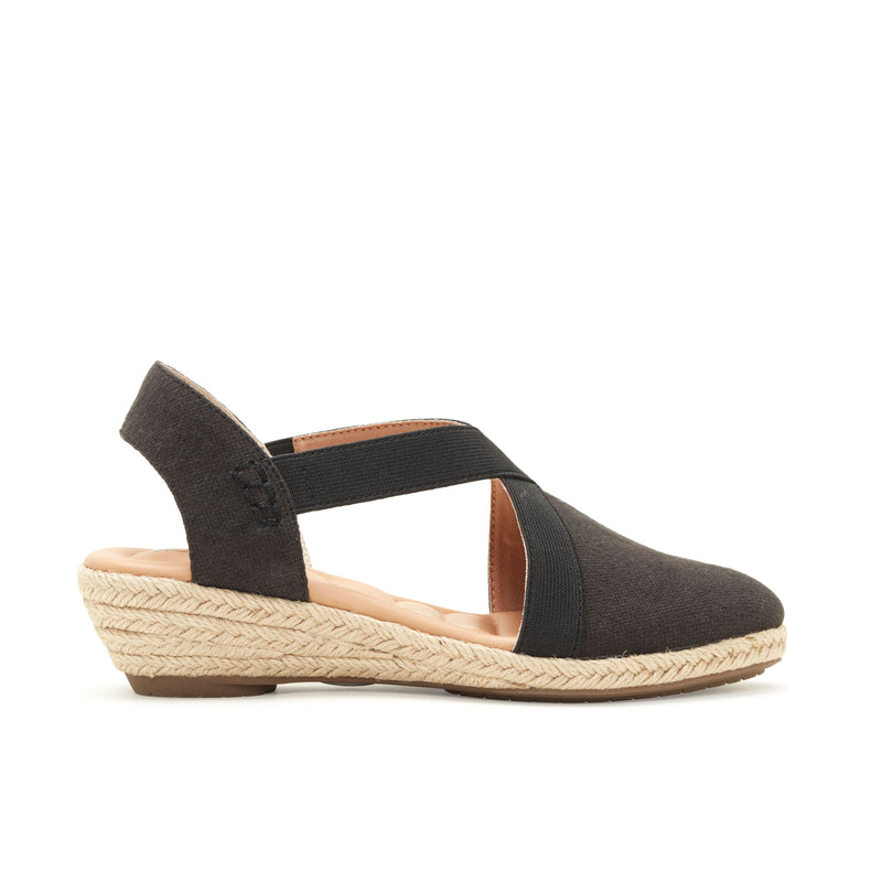 Nissa Black Canvas -  SANDAL - ...me Too