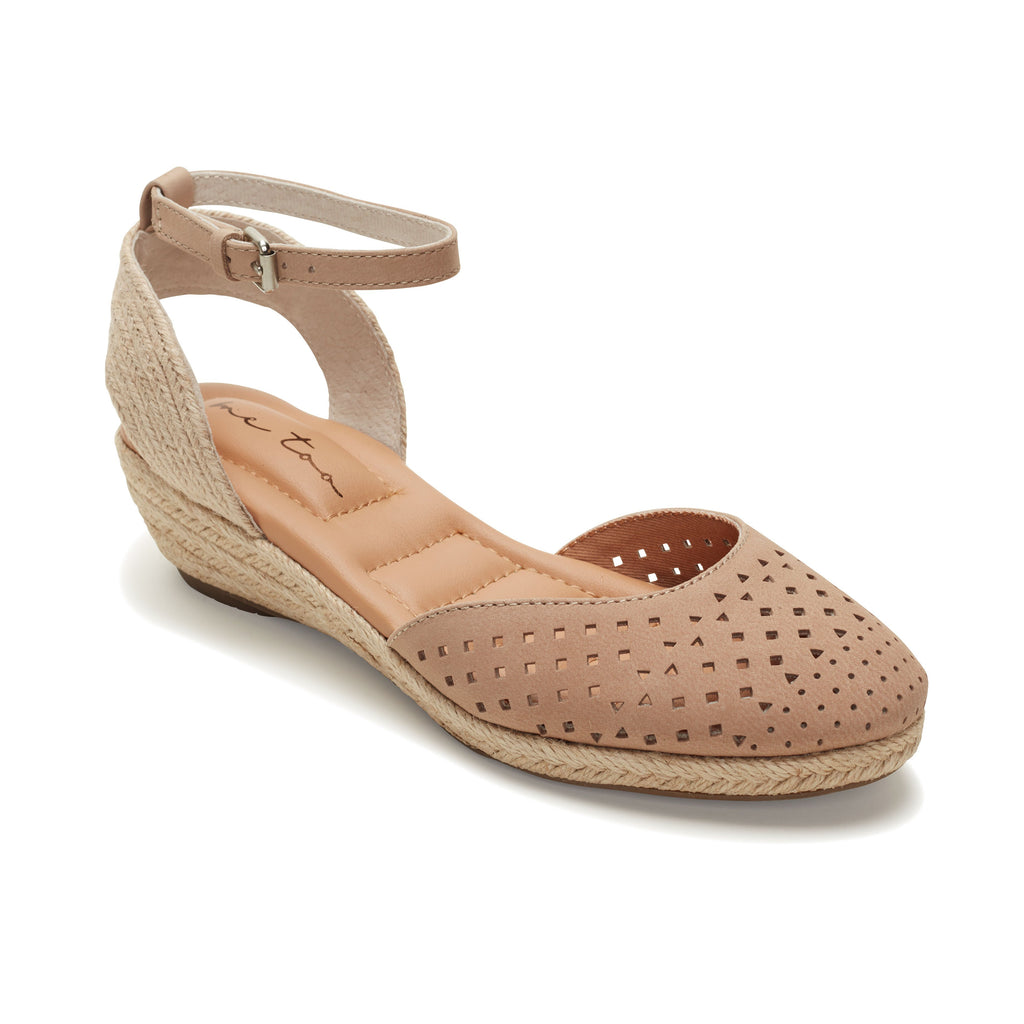 Norina Perf Mini-Wedge Sandal