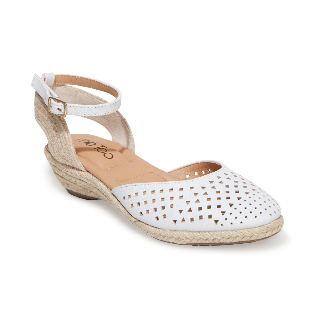 Norina White Metallic Leather -  SANDAL - ...me Too