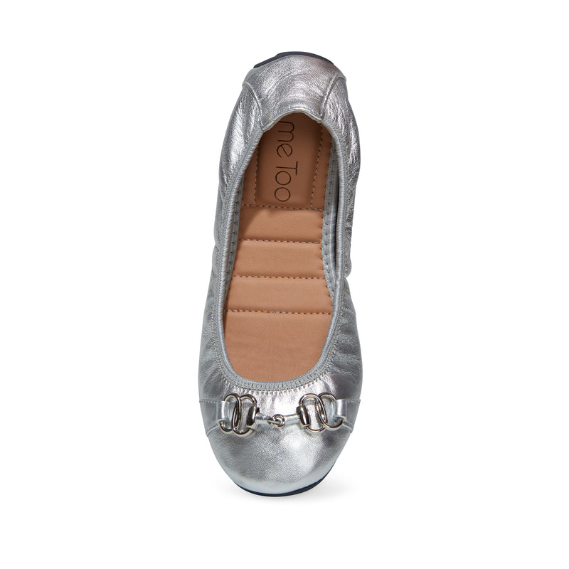 Olympia Silver Metallic -  Ballet Flats - me too
