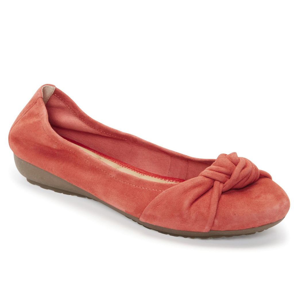 Jaci Red Orange Suede -  FLAT - me too
