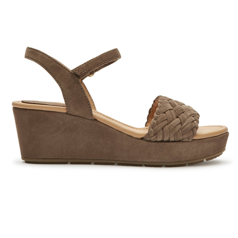 Abella Delicate Brown Suede -  SANDAL - me too