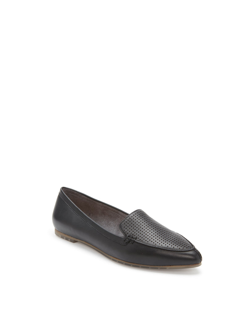 Alegra Black Leather -  FLAT - ...me Too