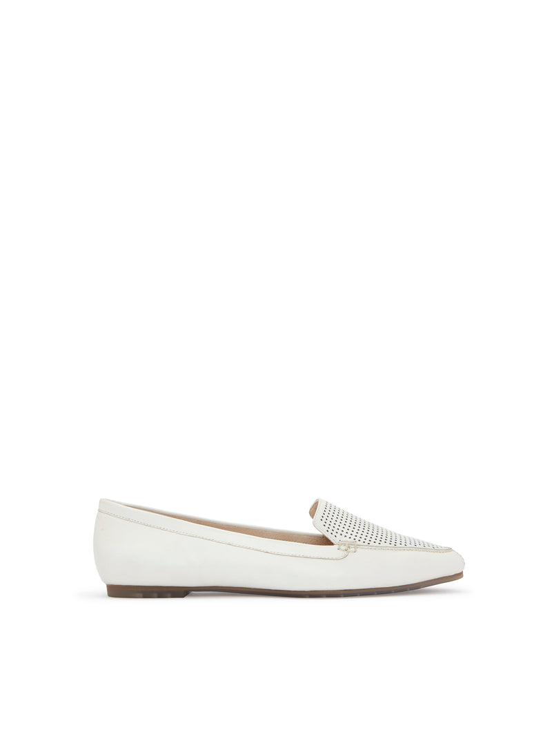 Alegra White Leather -  FLAT - ...me Too