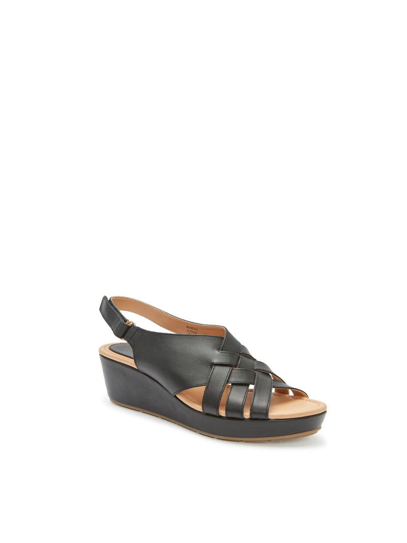 Alexi Black Leather -  SANDAL - ...me Too