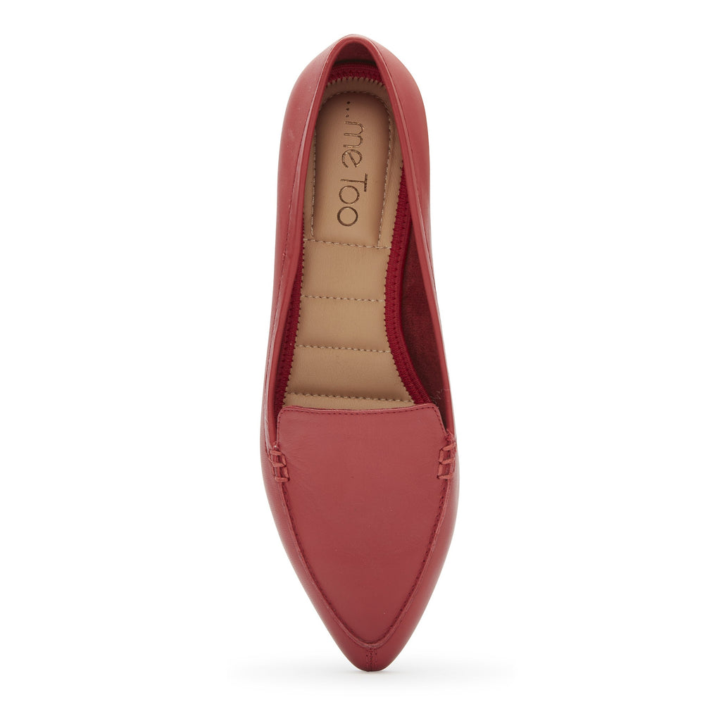 Audra Red Lips Leather -  FLAT - ...me Too