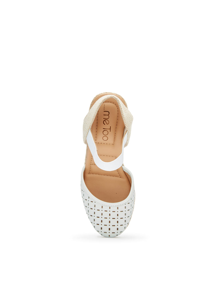 Bess White Leather -  WEDGE - ...me Too