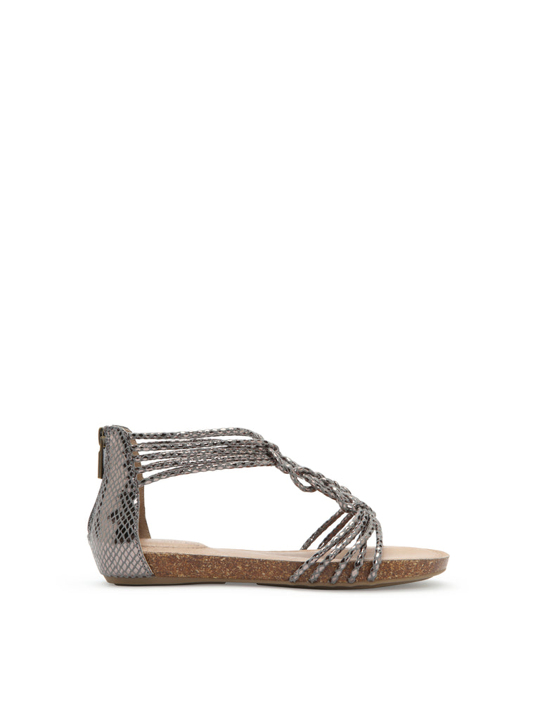 Cali Pewter Leather -  SANDAL - Adam Tucker