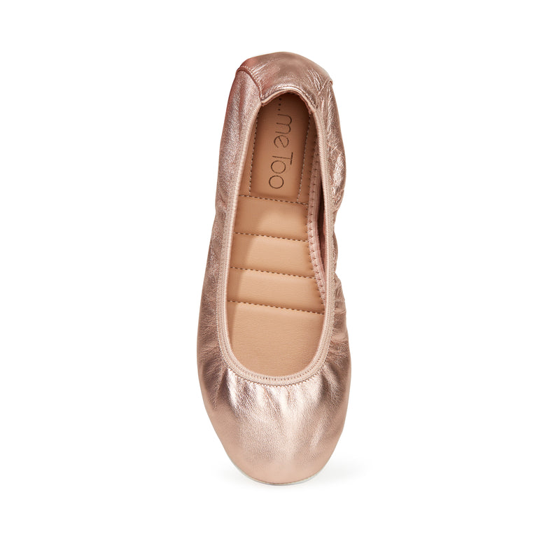 Tru Wht Rosegold Leather -  FLAT - ...me Too