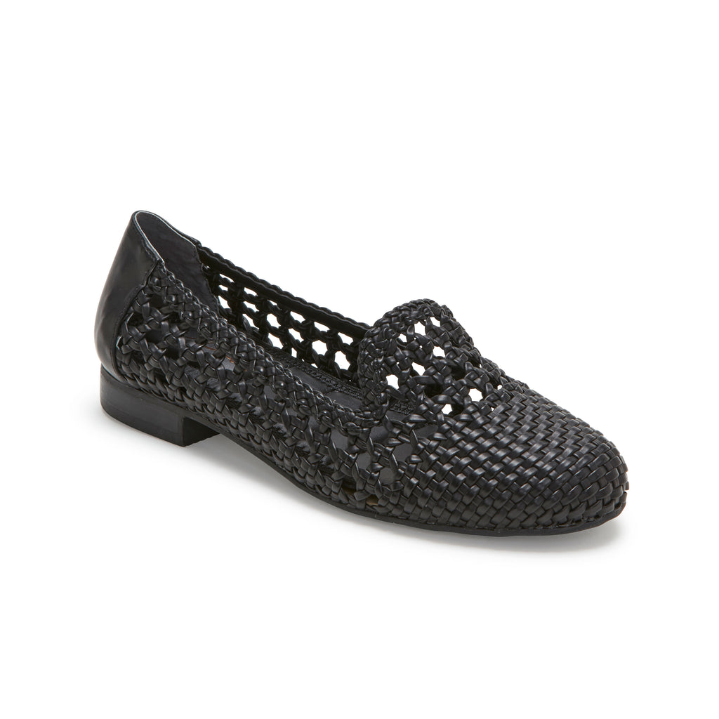 Yondra Black Woven -  Loafer - ...me Too