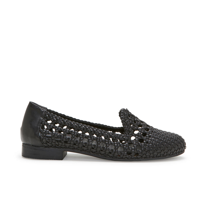 Yondra Black Woven -  Loafer - me too