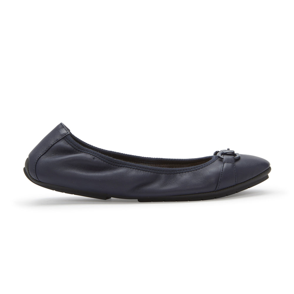 Navy Nappa Leather