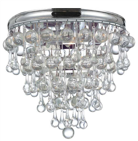 Calypso Polished Chrome Flush Mount