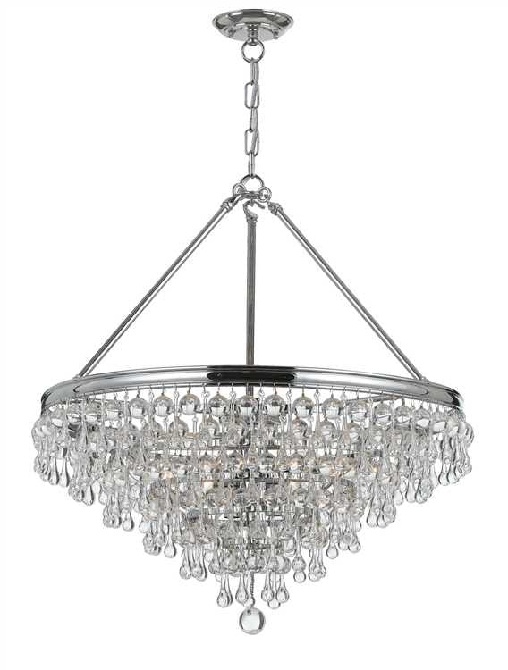 Calypso Polished Chrome Small Chandelier