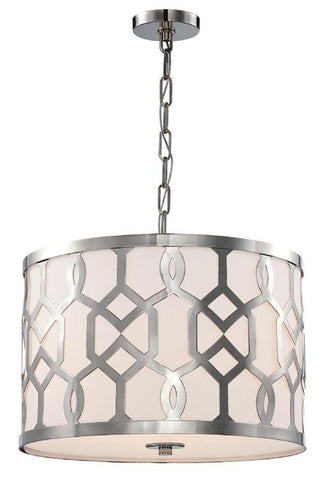 Jennings 3 Light Polished Nickel Pendant