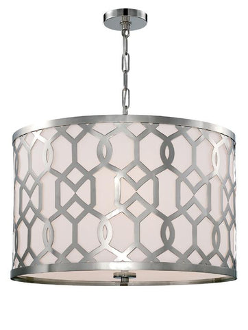 Jennings 5 Light Polished Nickel Pendant