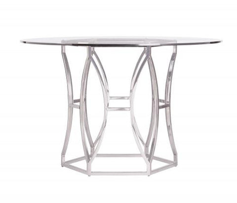 Argent Round Glass Dining Table