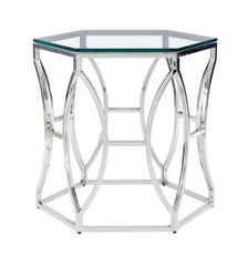 Argent Metal Side Table