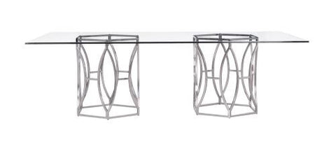 Argent Rectangular Glass Dining Table