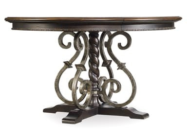 "Treviso Round Dining Table with One 18"" Leaf"