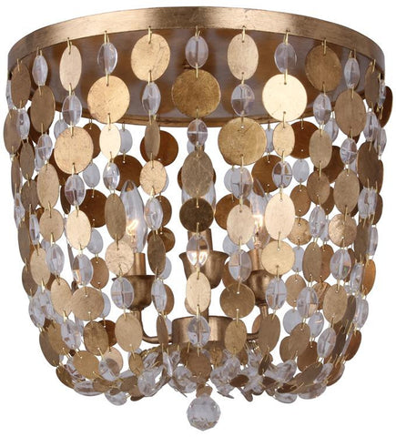 Bella 3 Light Gold Flush Mount