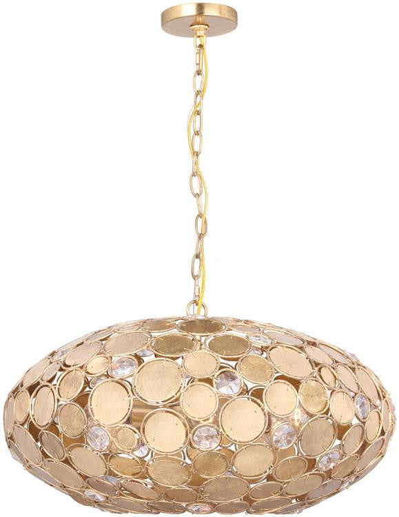 Bella 6 Light Antique Gold Chandelier