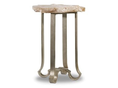 Melange End Table with Stone Top