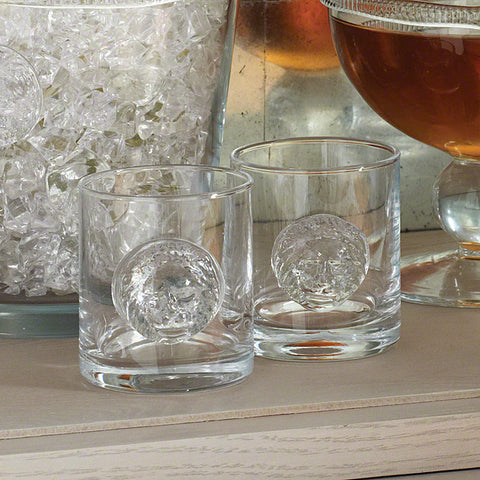 Set of 4 Double Old Fashion Leo Drinking Glasses